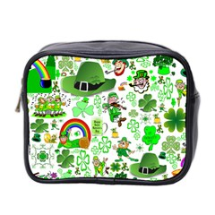 St Patrick s Day Collage Mini Travel Toiletry Bag (Two Sides)