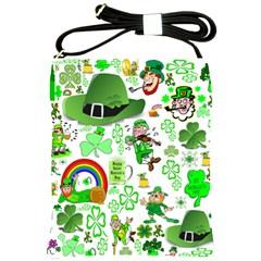 St Patrick s Day Collage Shoulder Sling Bag
