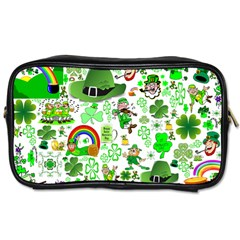 St Patrick s Day Collage Travel Toiletry Bag (one Side)