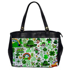 St Patrick s Day Collage Oversize Office Handbag (One Side)