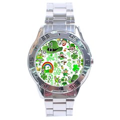 St Patrick s Day Collage Stainless Steel Watch
