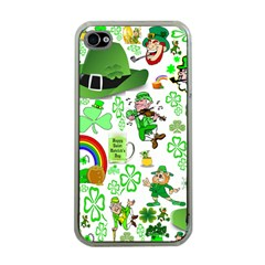 St Patrick s Day Collage Apple iPhone 4 Case (Clear)