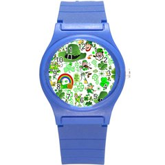 St Patrick s Day Collage Plastic Sport Watch (Small)