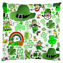 St Patrick s Day Collage Large Cushion Case (Single Sided)