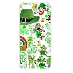 St Patrick s Day Collage Apple Iphone 5 Seamless Case (white)