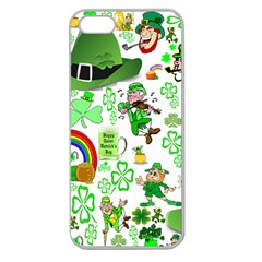St Patrick s Day Collage Apple Seamless Iphone 5 Case (clear)