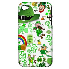 St Patrick s Day Collage Apple iPhone 4/4S Hardshell Case (PC+Silicone)