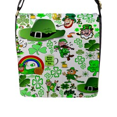 St Patrick s Day Collage Flap Closure Messenger Bag (Large)