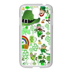 St Patrick s Day Collage Samsung GALAXY S4 I9500/ I9505 Case (White)
