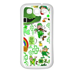 St Patrick s Day Collage Samsung Galaxy S3 Back Case (white)