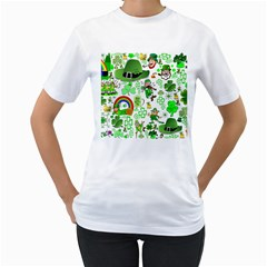 St Patrick s Day Collage Women s T Shirt (white)