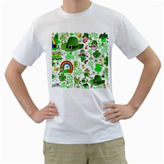 St Patrick s Day Collage Men s T Shirt (white)