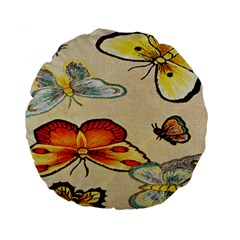 Vintage Embroidery 15  Premium Round Cushion