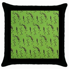 MONSTER Black Throw Pillow Case