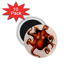 Here There Be Monsters 1.75  Button Magnet (10 pack)