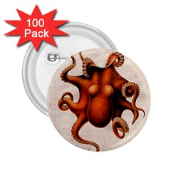 Here There Be Monsters 2.25  Button (100 pack)
