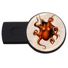 Here There Be Monsters 4GB USB Flash Drive (Round)