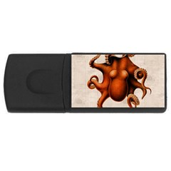 Here There Be Monsters 4GB USB Flash Drive (Rectangle)