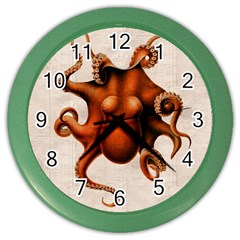 Here There Be Monsters Wall Clock (Color)