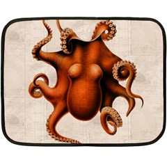 Here There Be Monsters Mini Fleece Blanket (Two Sided)