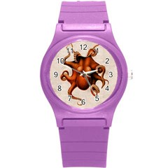 Here There Be Monsters Plastic Sport Watch (Small)