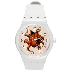 Here There Be Monsters Plastic Sport Watch (Medium)