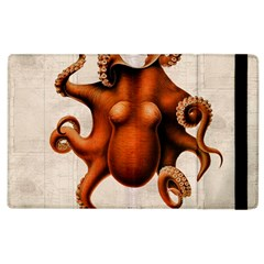 Here There Be Monsters Apple iPad 3/4 Flip Case