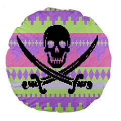 Ugly Pirate Sweater 18  Premium Round Cushion