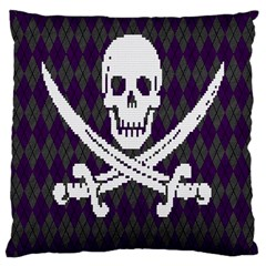 Jolly Roger Sweater Large Cushion Case (Two Sided)