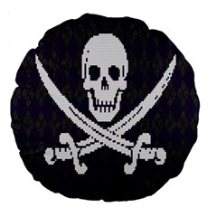 Jolly Roger Sweater 18  Premium Round Cushion