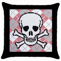 Ugly Skull Sweater Black Throw Pillow Case