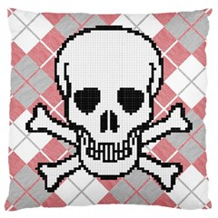 Ugly Skull Sweater Large Cushion Case (Two Sided)