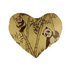 innocent panda 16  Premium Heart Shape Cushion