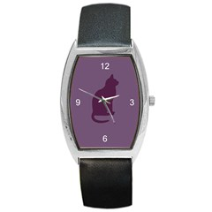 Kitty Tonneau Leather Watch