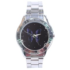 Electric Butterfly Stainless Steel Watch