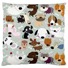 Dog Pattern Large Cushion Case (single Sided)