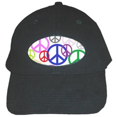 Peace Sign Collage Png Black Baseball Cap