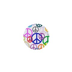 Peace Sign Collage Png 1  Mini Button Magnet