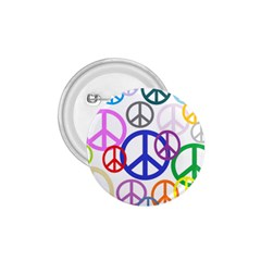 Peace Sign Collage Png 1.75  Button