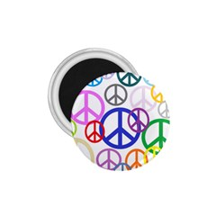 Peace Sign Collage Png 1.75  Button Magnet