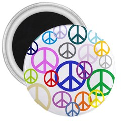 Peace Sign Collage Png 3  Button Magnet