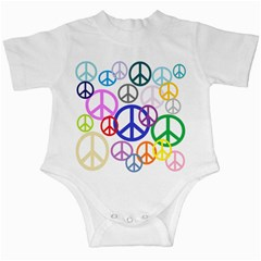 Peace Sign Collage Png Infant Bodysuit