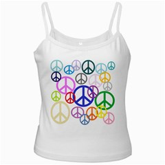 Peace Sign Collage Png White Spaghetti Tank