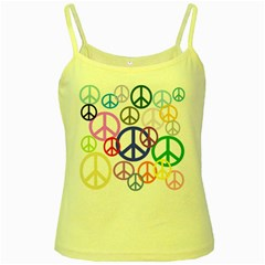 Peace Sign Collage Png Yellow Spaghetti Tank