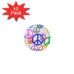 Peace Sign Collage Png 1  Mini Button (10 pack)