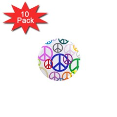 Peace Sign Collage Png 1  Mini Button Magnet (10 pack)