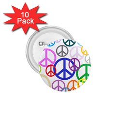Peace Sign Collage Png 1.75  Button (10 pack)