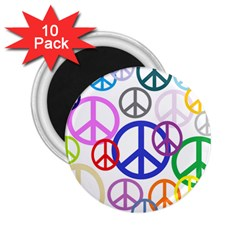 Peace Sign Collage Png 2.25  Button Magnet (10 pack)