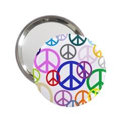 Peace Sign Collage Png Handbag Mirror (2.25 )