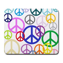 Peace Sign Collage Png Large Mouse Pad (Rectangle)